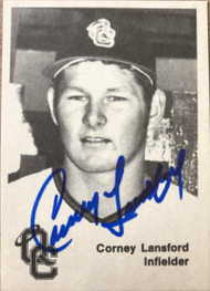 Carney Lansford Autographed 1976 TCMA Quad City Angels #18