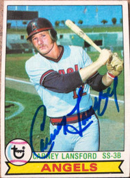 Carney Lansford Autographed 1979 Topps #212 Rookie Card