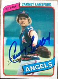 Carney Lansford Autographed 1980 Topps #337