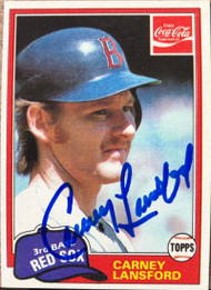 Carney Lansford Autographed 1981 Topps Coca Cola #6