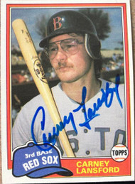 Carney Lansford Autographed 1981 Topps Traded #788