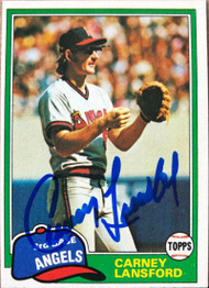 Carney Lansford Autographed 1981 Topps #639