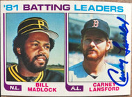 Carney Lansford Autographed 1982 Topps #161