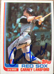 Carney Lansford Autographed 1982 Topps #91