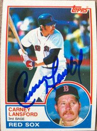 Carney Lansford Autographed 1983 Topps #523