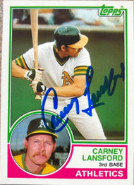 Carney Lansford Autographed 1983 Topps Traded #60T