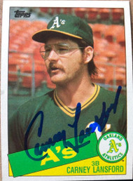 Carney Lansford Autographed 1985 Topps #422