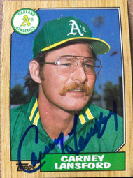 Carney Lansford Autographed 1987 Topps #678