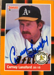 Carney Lansford Autographed 1988 Donruss Baseball's Best #246