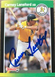 Carney Lansford Autographed 1989 Donruss Baseball's Best #22