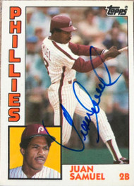 Juan Samuel Autographed 1984 Topps Traded Tiffany #105T