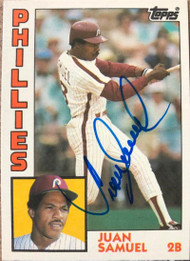 Juan Samuel Autographed 1984 Topps Traded #105T