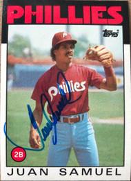 Juan Samuel Autographed 1986 Topps #475
