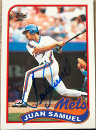 Juan Samuel Autographed 1989 Topps Traded #108T