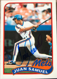 Juan Samuel Autographed 1989 Topps Traded Tiffany #108T