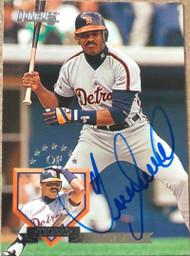 Juan Samuel Autographed 1995 Donruss #506
