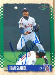 Juan Samuel Autographed 1995 Score #527