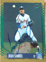 Juan Samuel Autographed 1995 Score Gold Rush #527