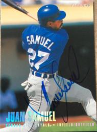 Juan Samuel Autographed 1996 Fleer Tiffany #137