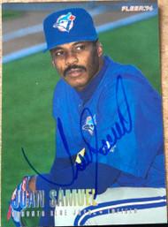 Juan Samuel Autographed 1996 Fleer Update Tiffany #U103
