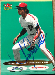 Juan Samuel Autographed 2003 Fleer Ultra All Vet Team #4