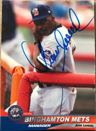 Juan Samuel Autographed 2006 Choice Binghamton Mets #27