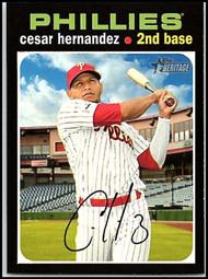 2020 Topps Heritage #136 Cesar Hernandez NM-MT Philadelphia Phillies