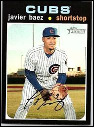 2020 Topps Heritage #142 Javier Baez NM-MT Chicago Cubs