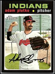 2020 Topps Heritage #148 Adam Plutko NM-MT Cleveland Indians