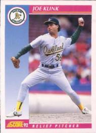 1992 Score #151 Joe Klink VG  Oakland Athletics