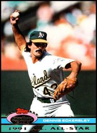 1992 Stadium Club Dome #42 Dennis Eckersley VG Oakland Athletics