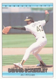 1992 Donruss #147 Dennis Eckersley VG Oakland Athletics