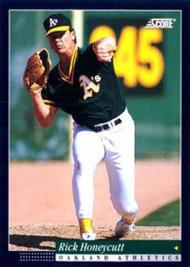 1994 Score #208 Rick Honeycutt VG Oakland Athletics