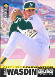 1995 Collector's Choice #30 John Wasdin VG Oakland Athletics