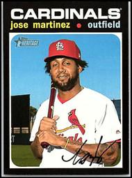 2020 Topps Heritage #132 Jose Martinez NM-MT St. Louis Cardinals
