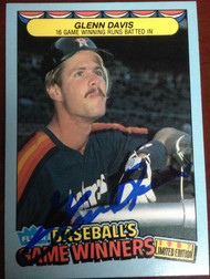 Glenn Davis Autographed 1987 Fleer Game Winners #12