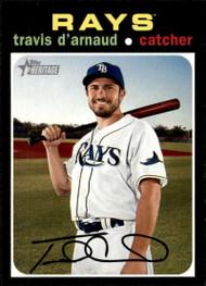 2020 Topps Heritage #207 Travis d'Arnaud NM-MT Tampa Bay Rays