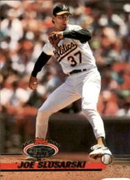 1993 Stadium Club #376 Joe Slusarski VG Oakland Athletics