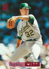 1994 Stadium Club #91 Bobby Witt VG Oakland Athletics