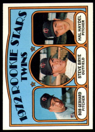 1972 Topps #28 Bob Gebhard/Steve Brye/Hal Haydel Twins Rookies VG RC Rookie Minnesota Twins