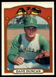 1972 Topps #17 Dave Duncan VG Oakland Athletics