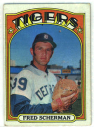 1972 Topps #6 Fred Scherman VG Detroit Tigers