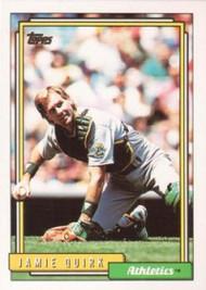 1992 Topps #19 Jamie Quirk VG Oakland Athletics