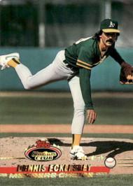 1993 Stadium Club #291 Dennis Eckersley MC VG Oakland Athletics