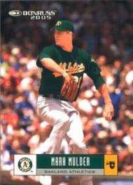 2005 Donruss #18 Mark Mulder VG Oakland Athletics