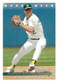 1993 Upper Deck #108 Lance Blankenship VG Oakland Athletics