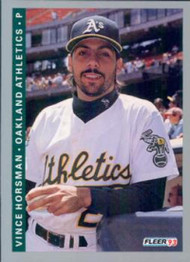 1993 Fleer #295 Vince Horsman VG Oakland Athletics