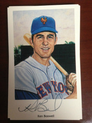 Ken Boswell Autographed 1994 Capitol Cards 69 Mets Postcard