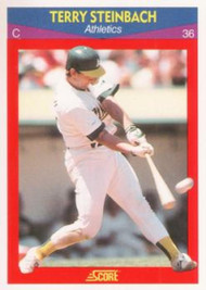 1990 Score 100 Superstars #55 Terry Steinbach VG Oakland Athletics