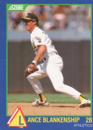1989 Score Hottest 100 Rising Stars #20 Lance Blankenship NM-MT Oakland Athletics